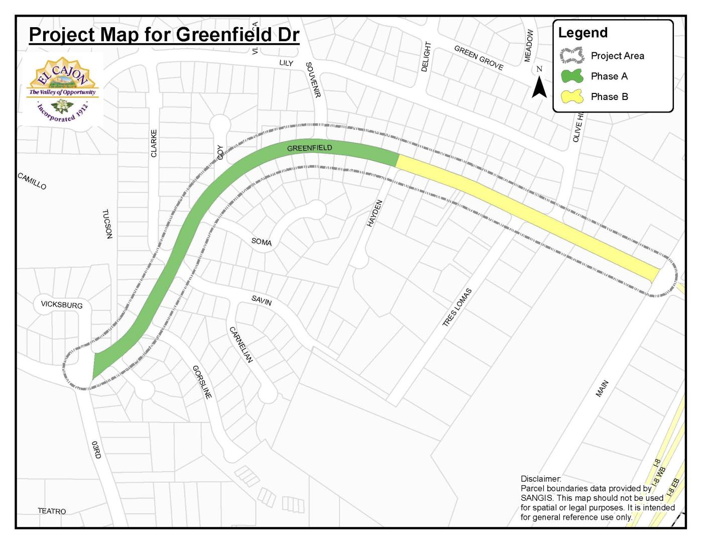 Project Map for Greenfield Drive