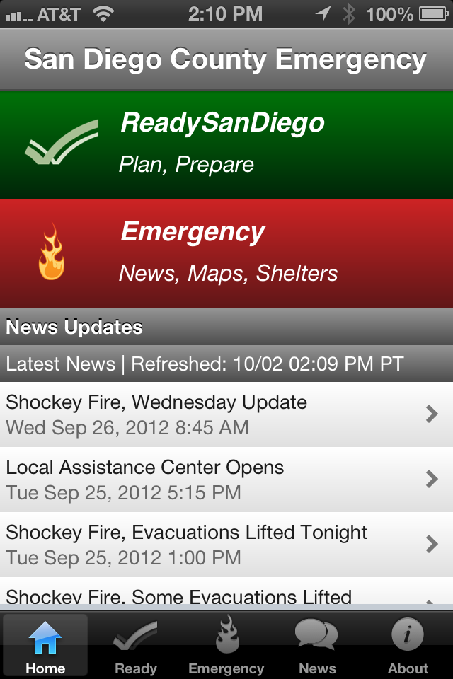 SD Emergency App Home