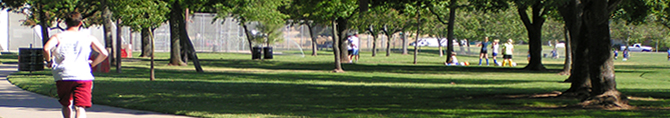 Jogger in park