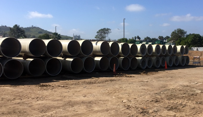 Pipeline stacked