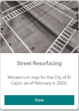 Street Resurfacing Button (GIS)